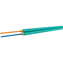 OCC AX002NALE9QR Duplex 10-Gig Multi Mode 50u Aqua Fiber Optic Cable - Per Foot