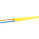OCC AX002NSLA9YR Duplex Single Mode 9u/125u Yellow Fiber Optic Cable - Per Foot