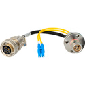 Hybrid Fiber Lemo FXW to Duplex Fiber & 5-Pin AMP Power Internal Distribution Cables