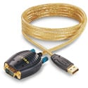 GoldX GXMU-1200 USB to DB 9 Serial Converter Cable 6 Foot