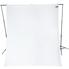 Westcott 9x10ft Wrinkle Resistant Cotton Background High-Key White Backdrop