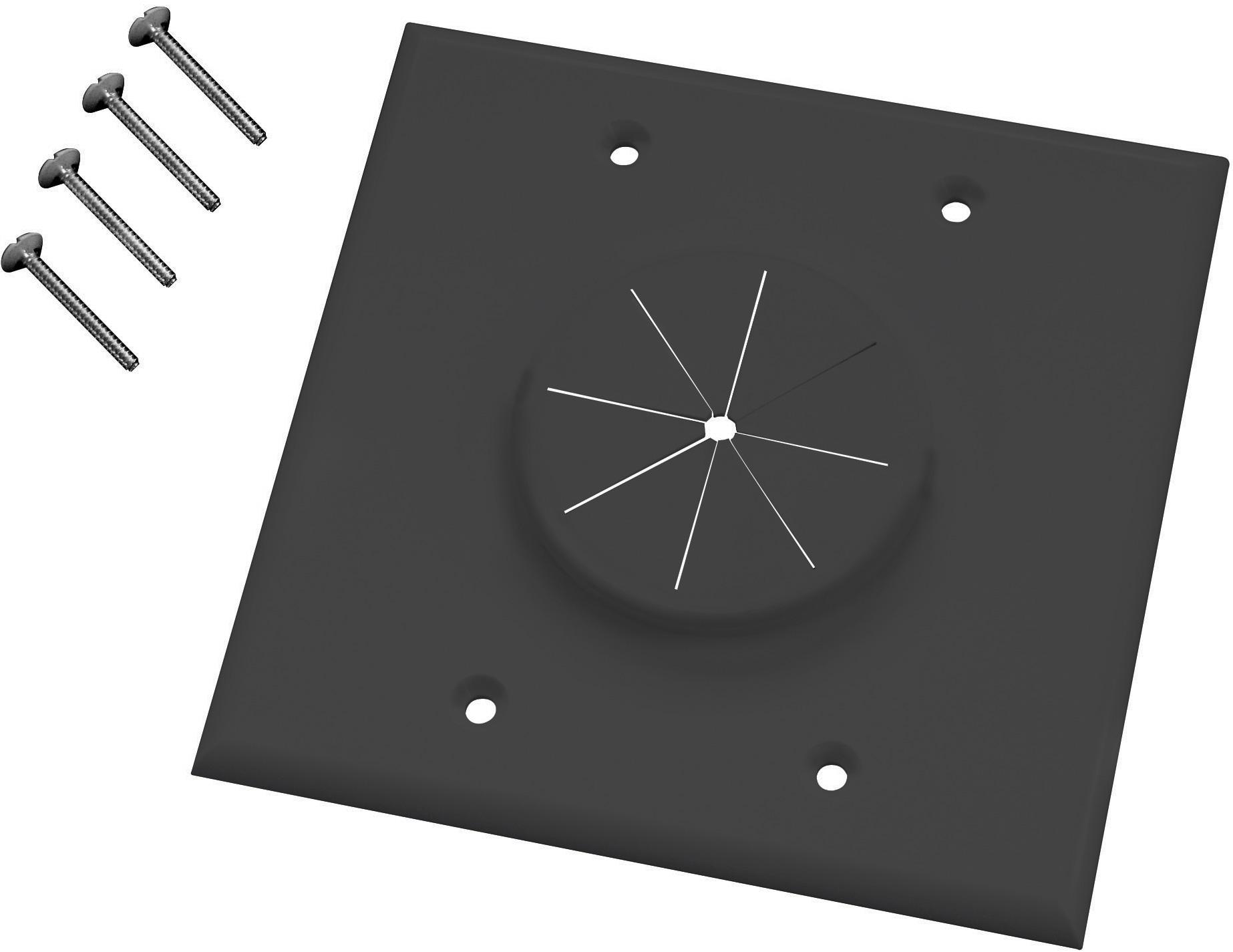 Low Voltage Grommet : Midlite gbk gr gang wireport wall plate with grommet