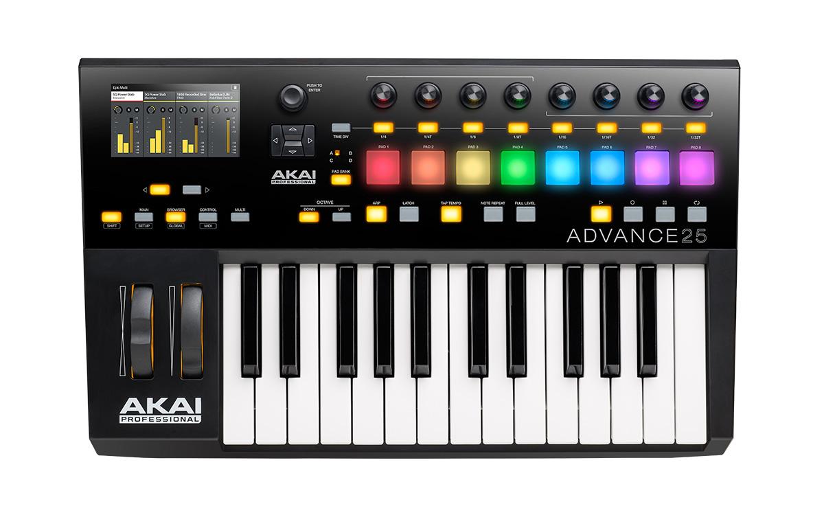 akai professional advance 25 25 key midi keyboard controller. Black Bedroom Furniture Sets. Home Design Ideas