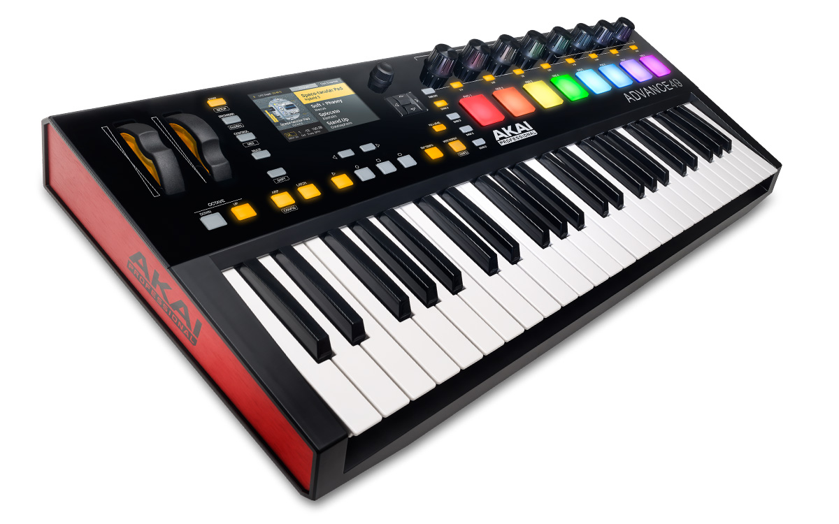 akai professional advance 49 49 key midi keyboard controller. Black Bedroom Furniture Sets. Home Design Ideas