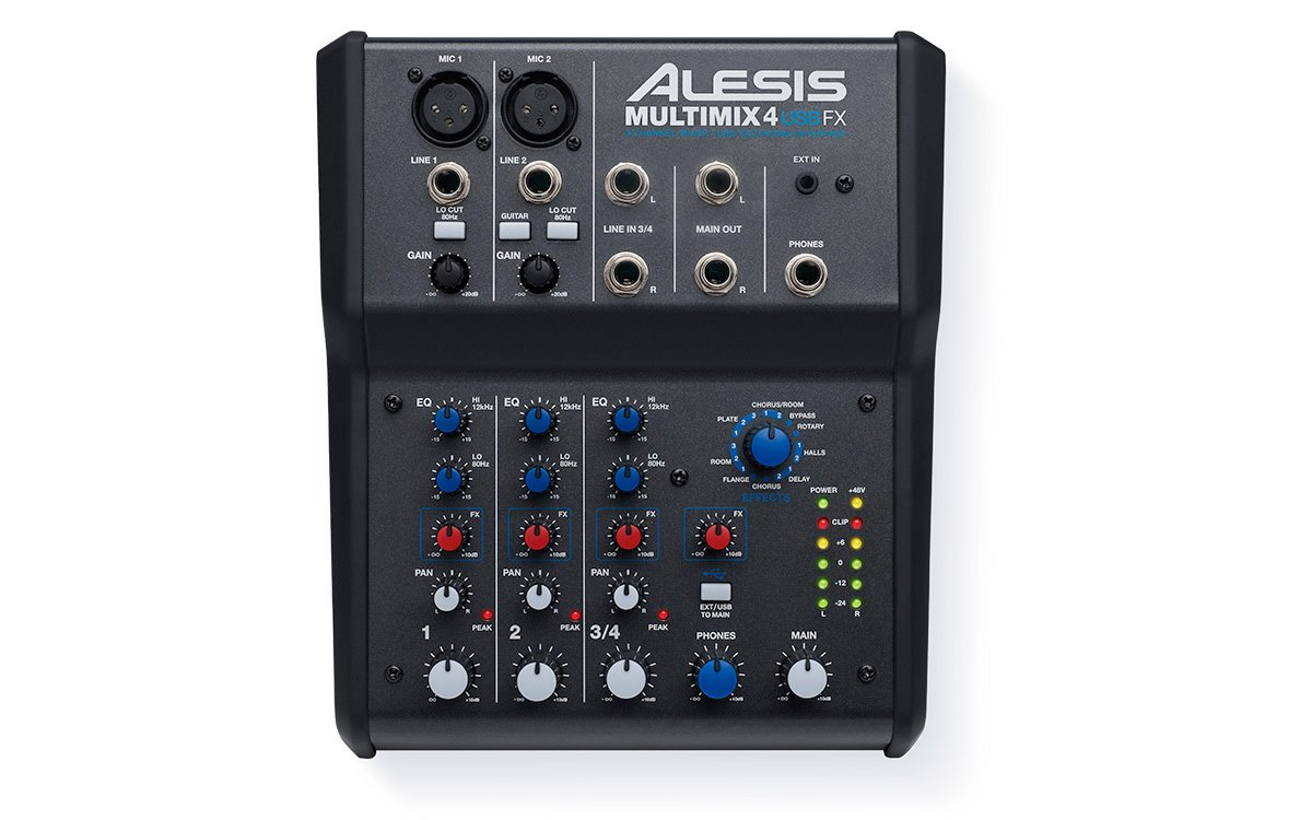 alesis multimix 4 usb fx 4 channel mixer with effects and usb audio interface. Black Bedroom Furniture Sets. Home Design Ideas