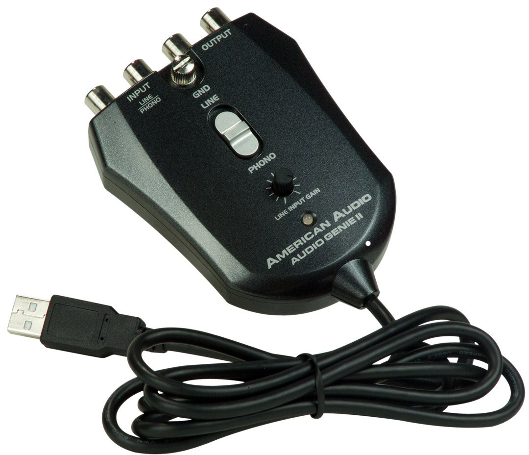 audio genie ii 2 in 2 out usb audio interface with rca connectors. Black Bedroom Furniture Sets. Home Design Ideas