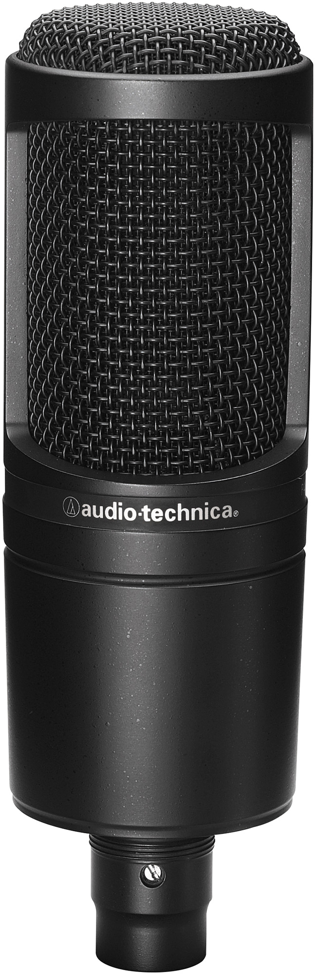 audio technica at2020 cardioid condenser microphone with stand mount. Black Bedroom Furniture Sets. Home Design Ideas