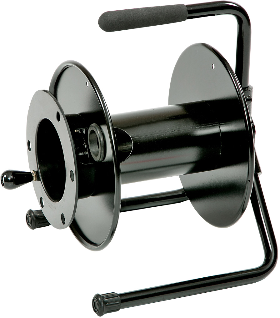 Cable Reels Product : Hannay cable reel with optional drum extension black