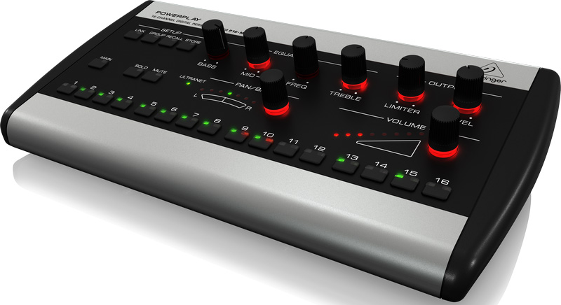 behringer powerplay 16 p16 m 16 channel digital personal mixer. Black Bedroom Furniture Sets. Home Design Ideas