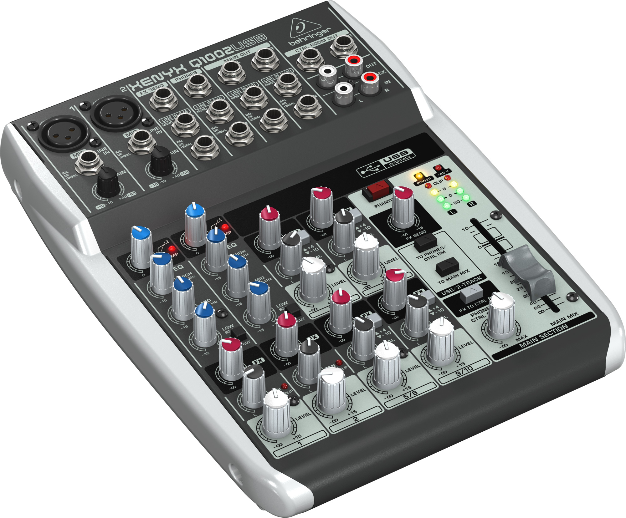 behringer q1002usb portable 10 input 2 bus analog audio mixer with usb. Black Bedroom Furniture Sets. Home Design Ideas