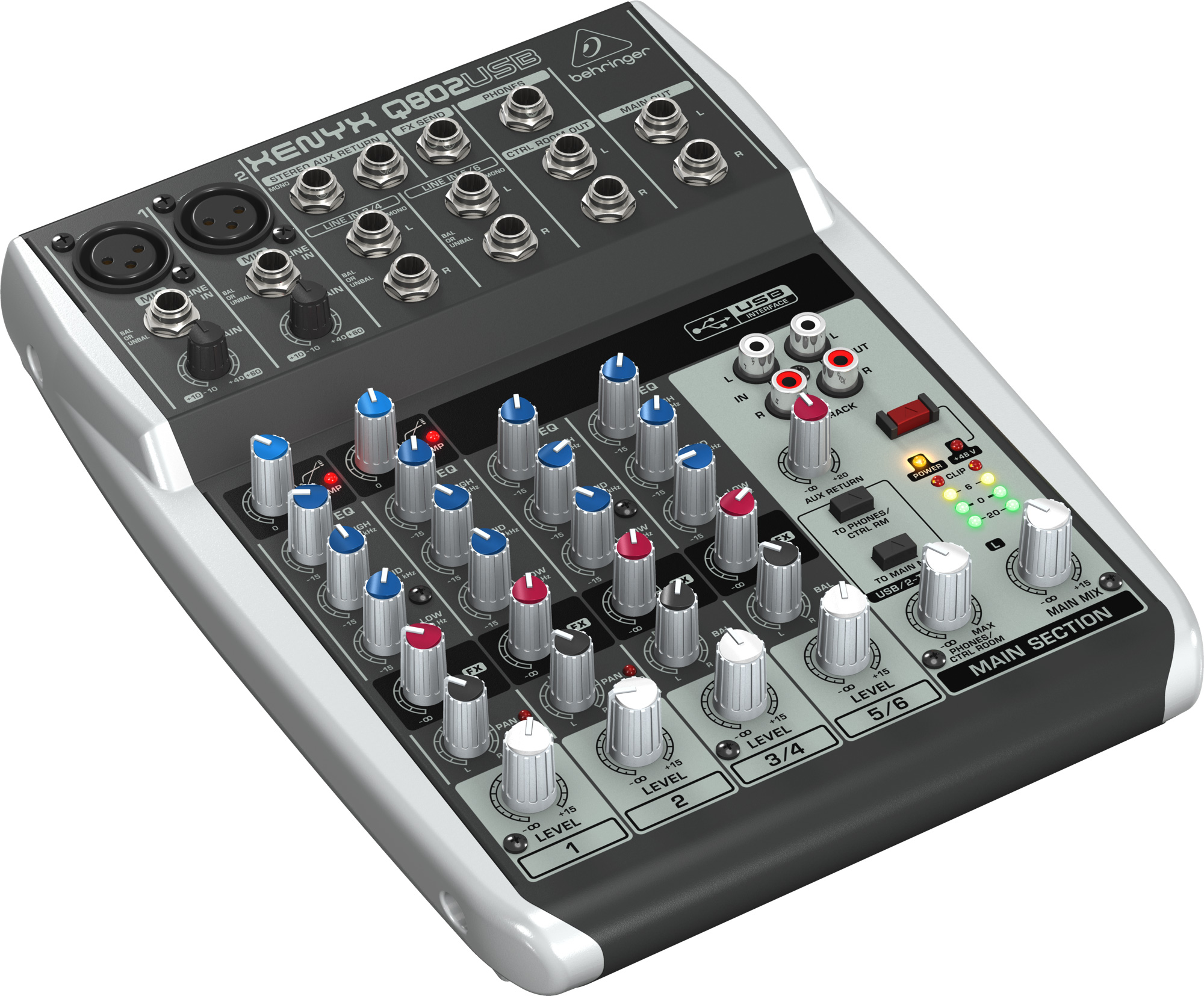 behringer q802usb premium 8 input 2 bus analog audio mixer. Black Bedroom Furniture Sets. Home Design Ideas