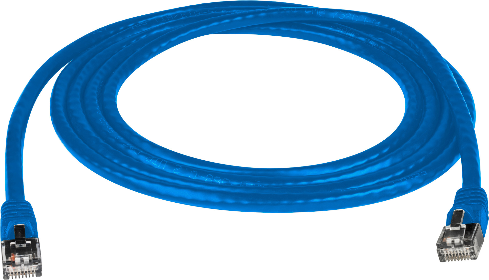 Molded Utp Cat6 Patch Cable 24awg 50u 15 Foot Blue