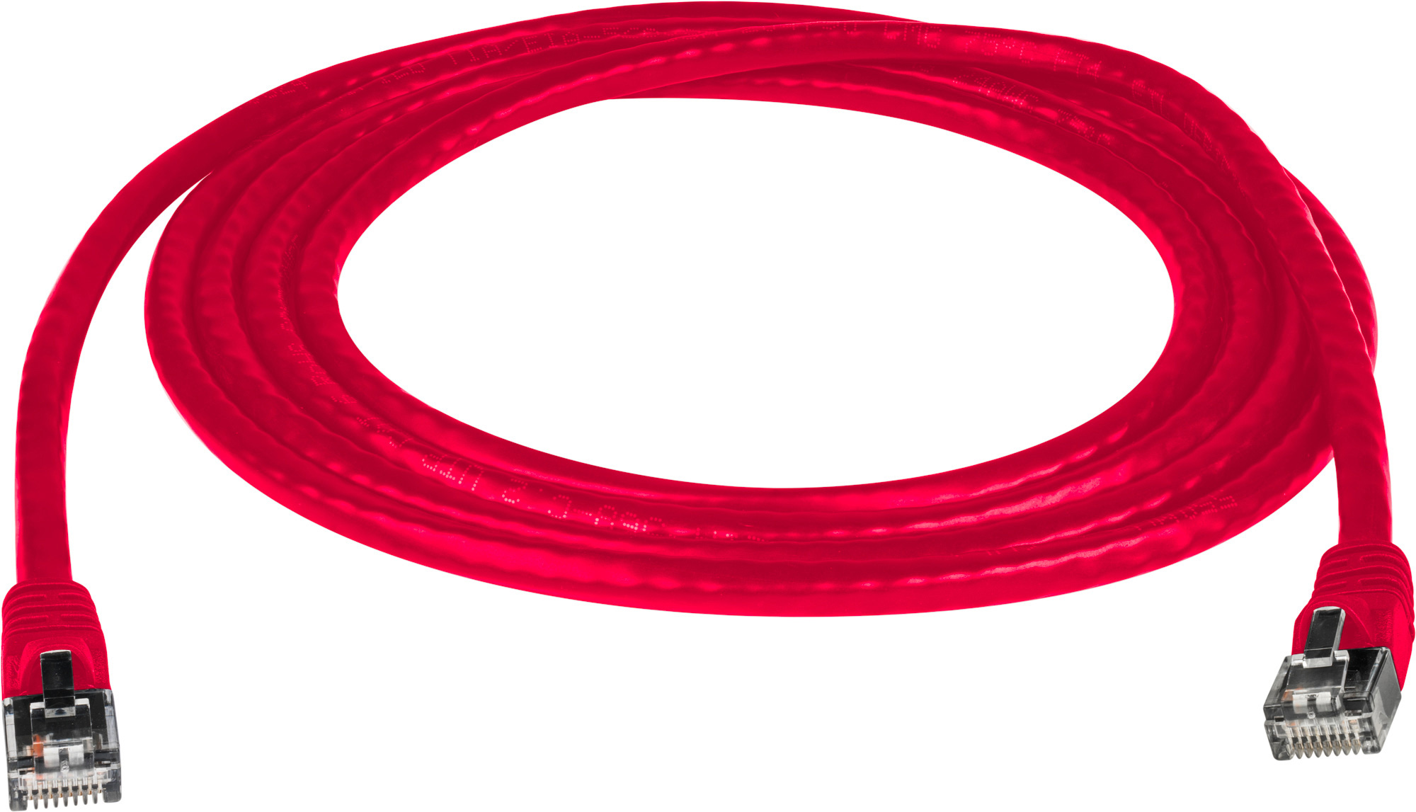 Molded Utp Cat6 Patch Cable 24awg 50u 15 Foot Red