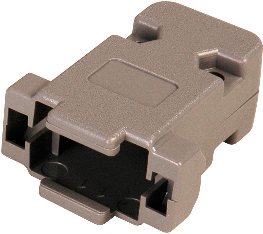 Pin d sub connector hood plastic