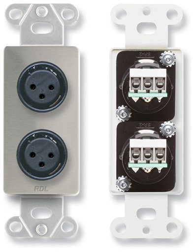 Rdl Ds Xlr2f Dual Xlr 3 Pin Female Jacks On Decora Wall