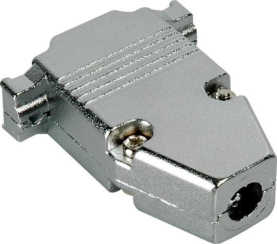 Pin d sub connector hood metal