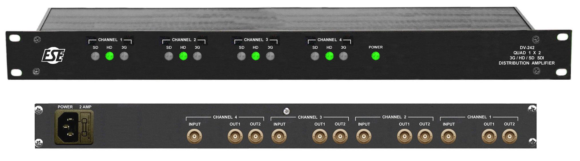 Ese Dv 242 3g Hd Sd Sdi Reclocking Distribution Amplifier