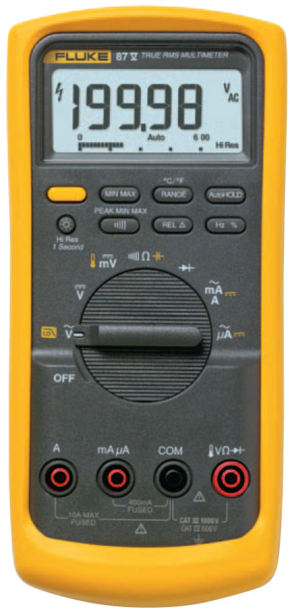 Fluke Voltmeter Tester : Fluke v true rms digital multimeter