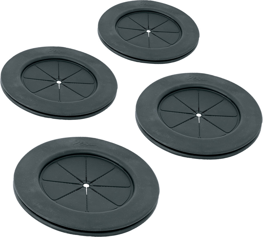 4 Inch Black Gland Grommet 4 Pack