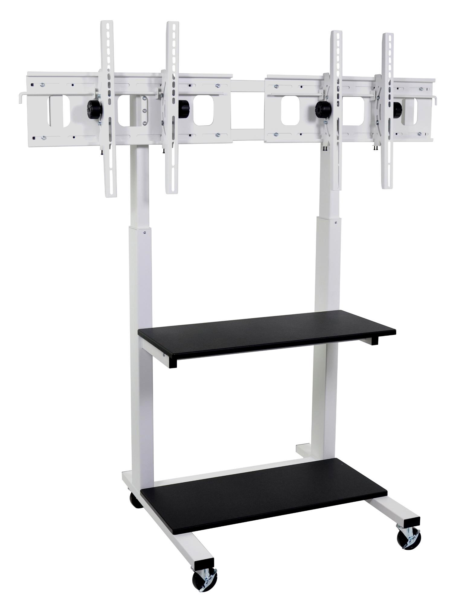 luxor clcddual crank adjustable flat panel tv cart