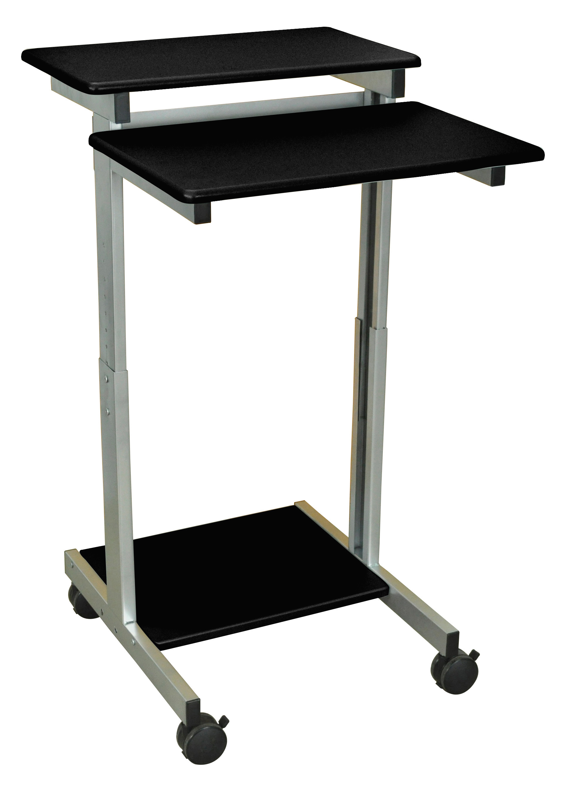 luxor standup 24 b adjustable height stand up workstation. Black Bedroom Furniture Sets. Home Design Ideas