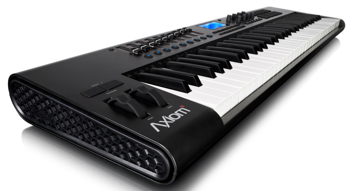 m audio axiom 61 2nd gen 61 key usb mobile midi controller keyboard. Black Bedroom Furniture Sets. Home Design Ideas