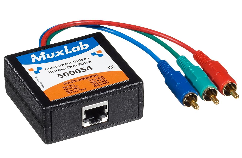 Component VideoIR Pass-Thru Balun 50005 Muxlab