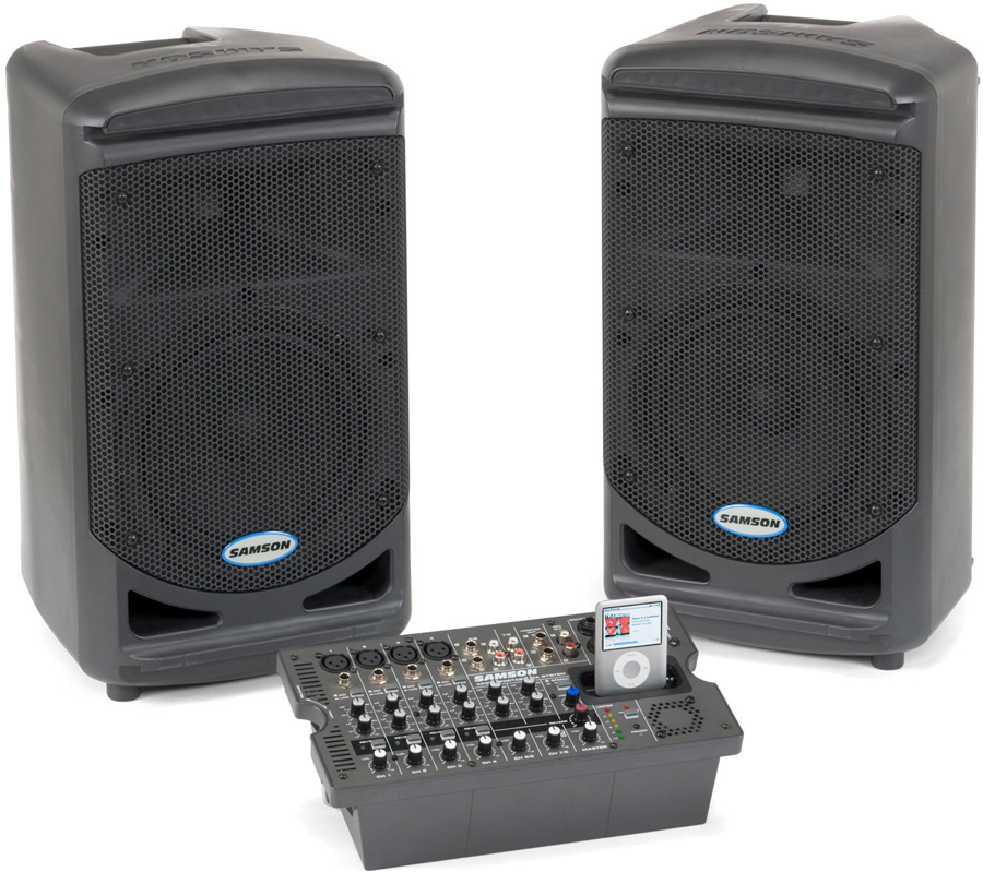 samson expedition xp308i portable pa system w 8 channel powered mixer. Black Bedroom Furniture Sets. Home Design Ideas