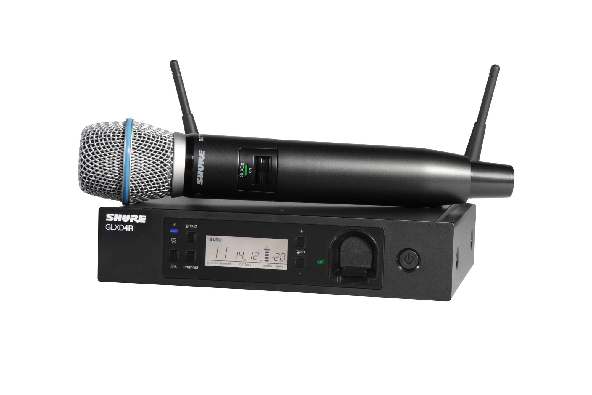 Shure Microphone System : Shure glxd r b a advanced wireless microphone