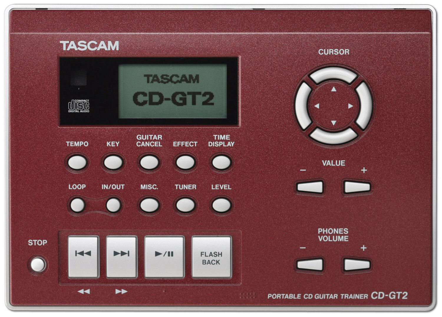 tascam cd gt2 cd player guitar trainer. Black Bedroom Furniture Sets. Home Design Ideas
