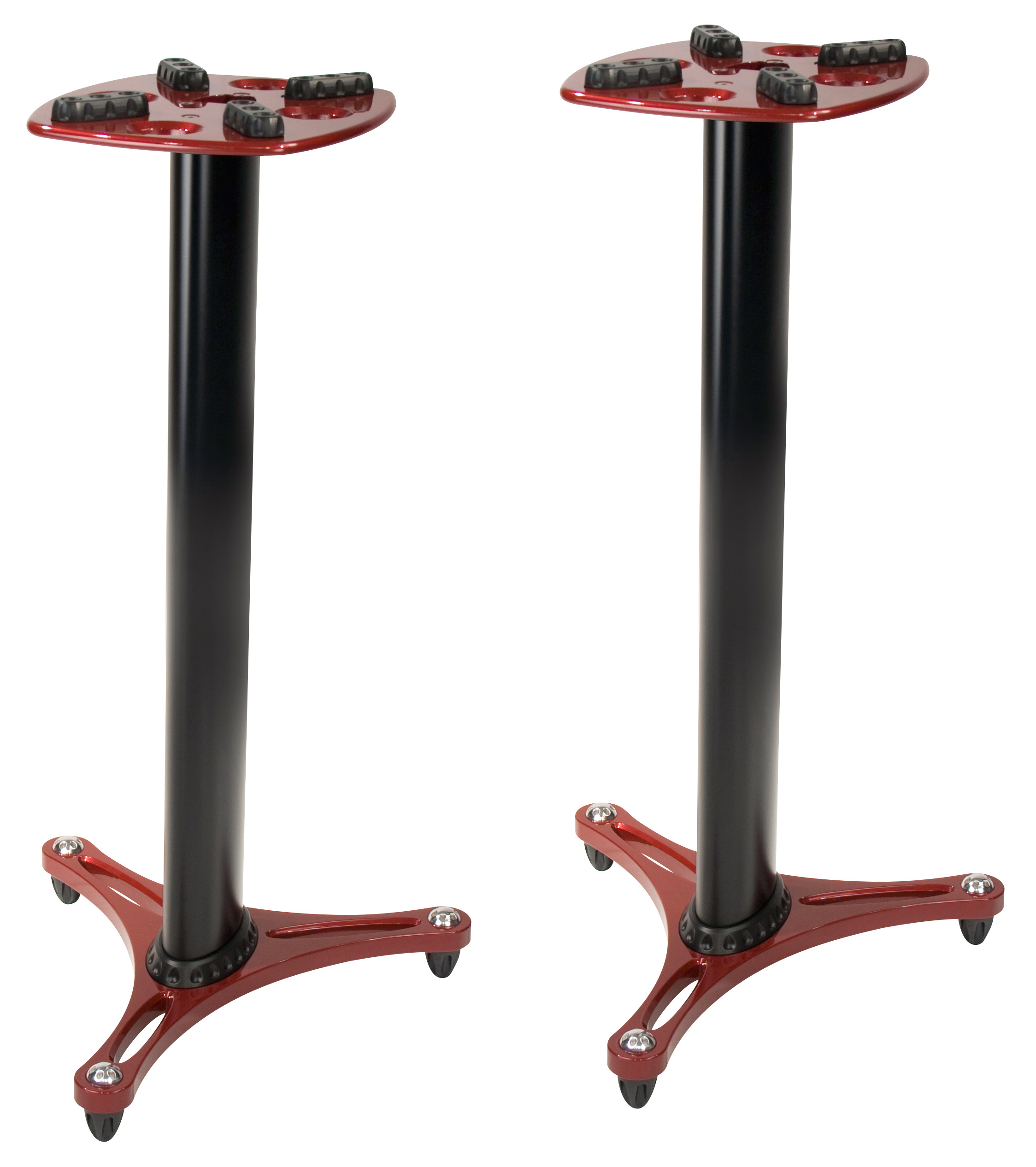 ultimate support ult ms90 36r red speaker stands pair