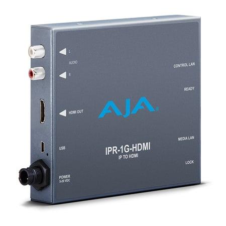 AJA IPR-1G-HDMI JPEG 2000 IP Video and Audio to HDMI Mini Converter