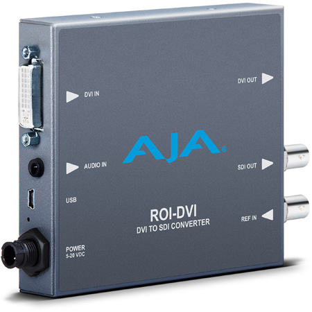 AJA ROI-DVI DVI/HDMI to 3G-SDI Mini-Converter with ROI Scaling