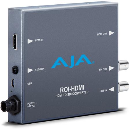 AJA ROI-HDMI HDMI to 3G-SDI Mini-Converter with ROI Scaling