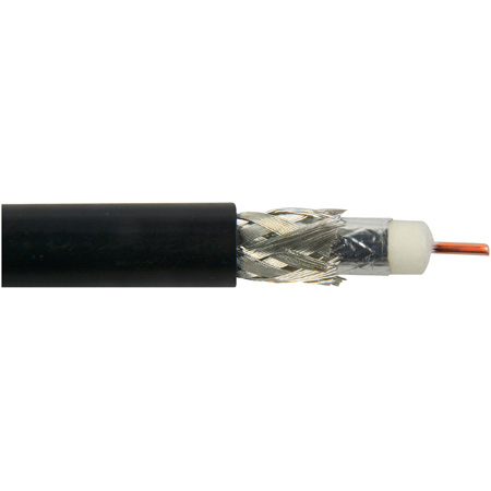 Belden 1694A 010500 CM Rated 3G-SDI RG6 Digital Coaxial Cable - Black - 500 Foot