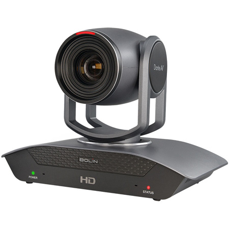 Bolin Technology D220 Dante AV PTZ Camera - Supports up to FHD 1080p60 High Resolution with 20x Optical Zoom
