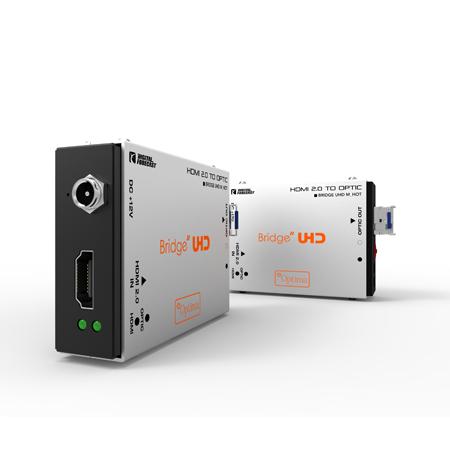 Digital Forecast UHD M-HOT HDMI 2.0 to Fiber Optic SingleMode Simplex LC Transmitter Extender- SFP Included