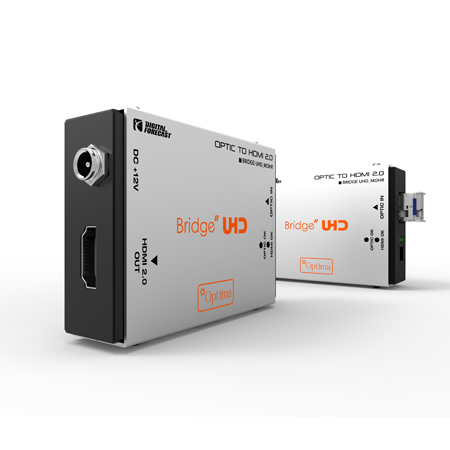 Digital Forecast UHD M-OHR Fiber Optic to HDMI 2.0 SingleMode LC Simplex Receiver Extender SFP Included