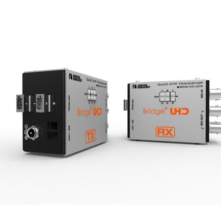 Digital Forecast UHD QOTR Quad 3G TX/RX Extender Bundle w/ Duplex LC SingleMode SFP Modules Included