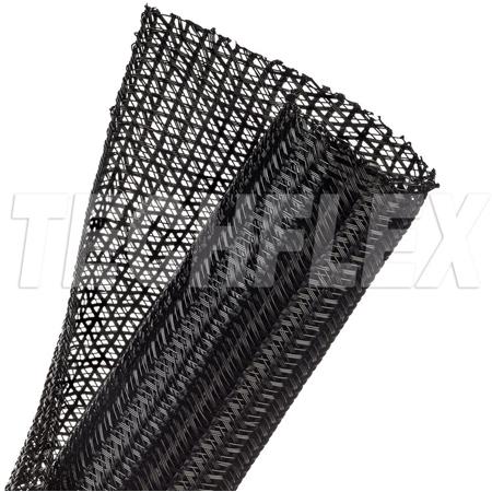 TechFlex F6N1.50BK 1 1/2 Inch F6 Self Wrap Sleeving - Black - 75 Foot