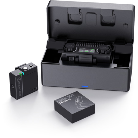Hollyland LARK 150 SOLO 2.4GHz AFH 1-Person Clip-on Wireless Microphone System - Black