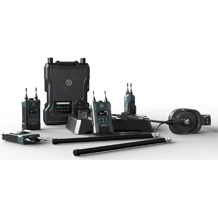 Hollyland SOLIDCOM M1 1.9GHz Full Duplex Wireless Intercom System with 4 Beltpacks - 200Hz to 7KHz