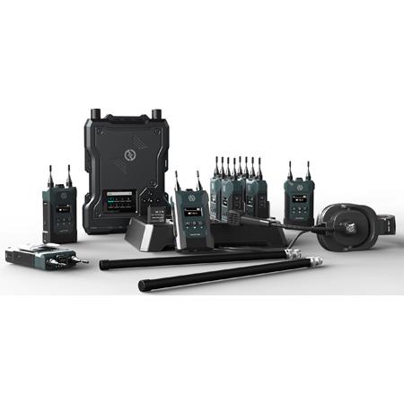 Hollyland SOLIDCOM M1 1.9GHz  Full Duplex Wireless Intercom System with 8 Beltpacks - 200Hz to 7KHz