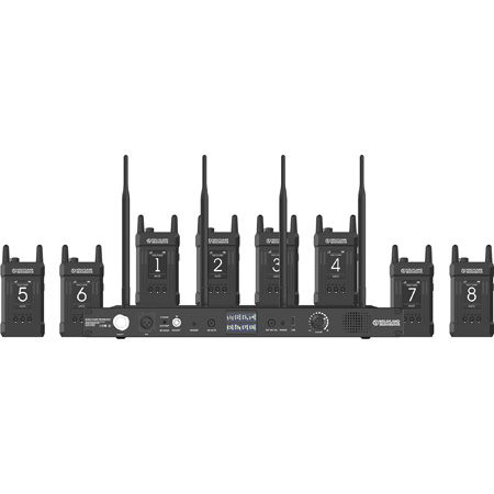 Hollyland SYSCOM 1000T-8B 1000 Foot Full Duplex Wireless Intercom System with 8 Belt Packs