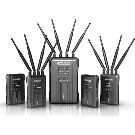 Hollyland SYSCOM 421-4TX1RX 4 Transmitter/1 Receiver 1800 Foot 1.9GHz  SDI/HDMI Wireless Video/Audio Transmission System