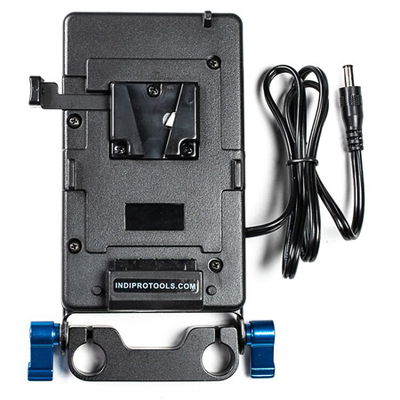 IndiPro Tools PDVBM4K V-Mount Plate for Blackmagic 4K Camera with 15mm Mounting Plate