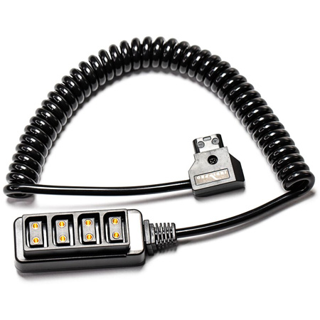 IndiPro Tools PTC4WS 4-Way D-Tap Splitter Cable Converter - Coiled Cable - 20 to 36 Inch Cable