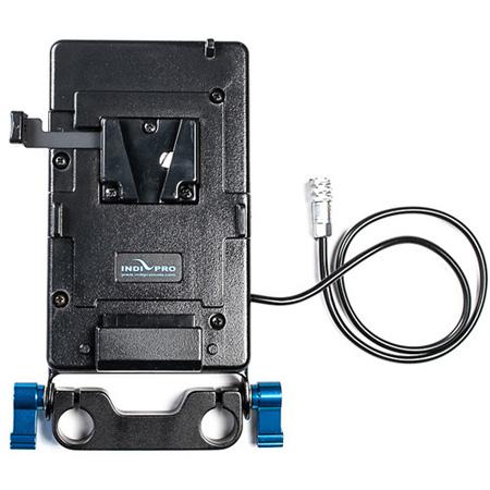 IndiPro Tools VMBP4K V-Mount Battery Adapter Plate for Blackmagic Pocket Cinema Camera 4K/ 6K w/ 15mm Rod System 16-Inch