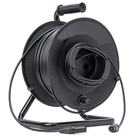 MarkerReel 1-Channel Audio Cable Reel 3-Pin XLRM to XLRF with Canare L-4E6S - 300 Foot