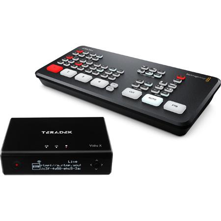 Teradek Vidiu X Live Streaming Encoder Kit w/ Blackmagic Design ATEM Mini HDMI Live Production Switcher & Monitor/Cables